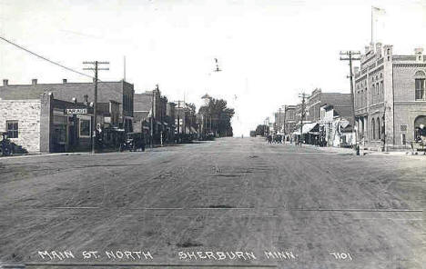 Main Street North, Sherburn Minnesota, 1910's