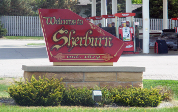 Welcome sign, Sherburn Minnesota