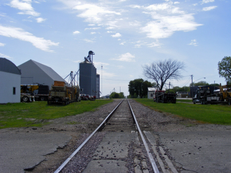 Railroad tracks and elevators, Sherburn Minnesota, 2014