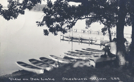 View on Fox Lake, Sherburn Minnesota, 1922