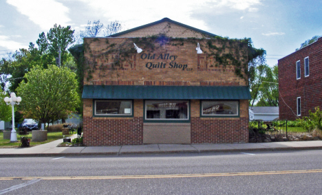 Former bowling alley, now quilt shop, Sherburn Minnesota, 2014
