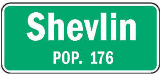 Shevlin Minnesota population sign
