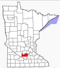Location of Sibley County Minnesota