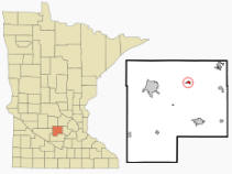 Location of Silver Lake, Minnesota