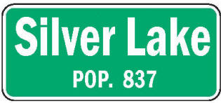 Silver Lake Minnesota population sign