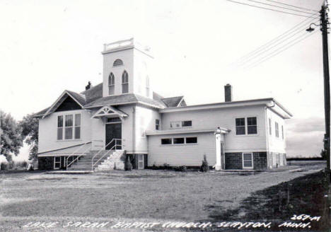 Lake Sarah Baptist Church, Slayton Minnesota, 1940's