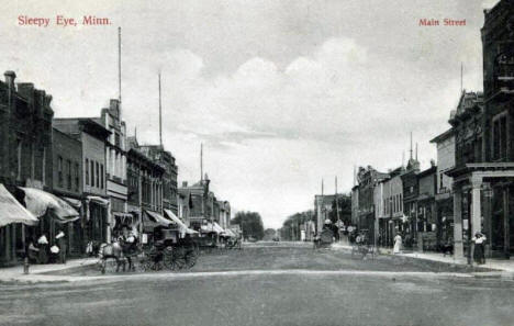 Main Street, Sleepy Eye Minnesota, 1909