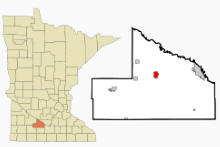 Location of Sleepy Eye, Minnesota