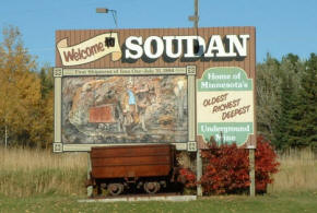 Soudan Minnesota Welcome Sign