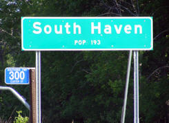 South Haven Minnesota population sign