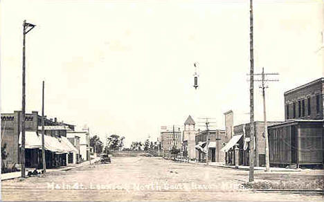 Main Street looking north, South Haven Minnesota, 1910's