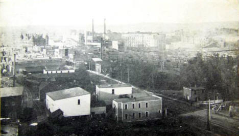 Birds eye view, South Saint Paul Minnesota, 1906