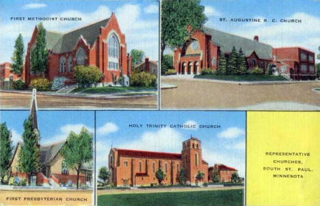 Churches, South Saint Paul Minnesota, 1940's