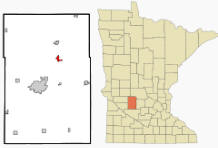 Location of Spicer, Minnesota
