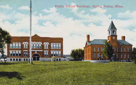 Public School Buildings, Spring Valley Minnesota, 1910
