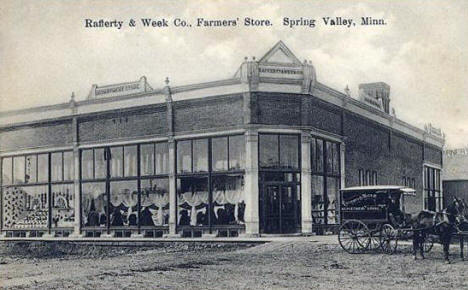Rafferty and Week Company Farmers Store, Spring Valley Minnesota, 1900's