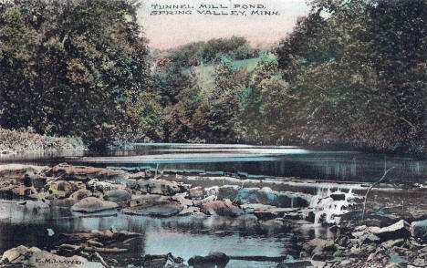 Tunnel Mill Pond, Spring Valley Minnesota, 1908