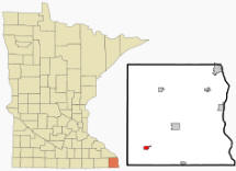 Location of Spring Grove, Minnesota