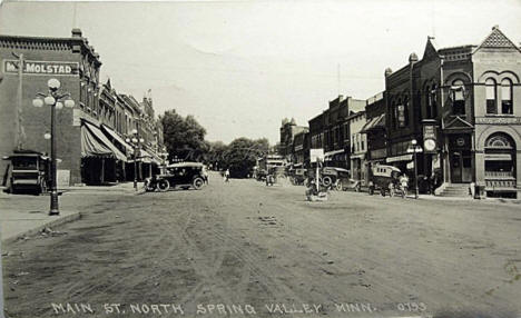Main Street North, Spring Valley Minnesota, 1923