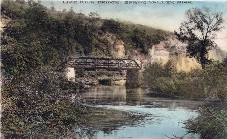 Lime Kiln Bridge, Spring Valley Minnesota, 1908