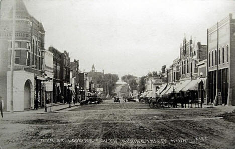 Main Street looking south, Spring Valley Minnesota, 1920