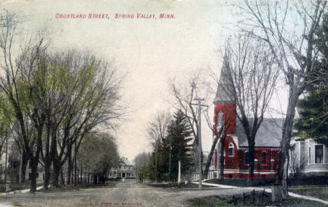 Courtland Street, Spring Valley Minnesota, 1908