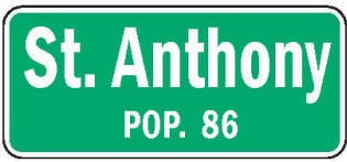 St. Anthony Minnesota population sign