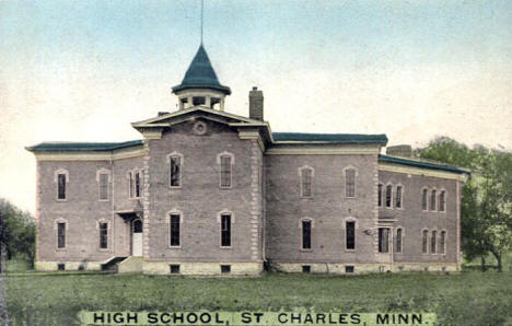 High School, St. Charles Minnesota, 1909