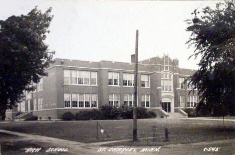 High School, St. Charles Minnesota, 1930's?
