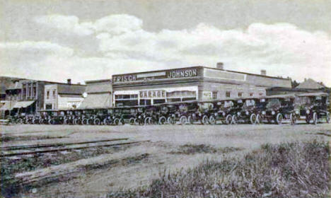 Frisch & Johnson Garage, St. Charles Minnesota, 1910