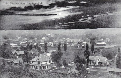 St. Charles Minnesota by moonlight, 1907