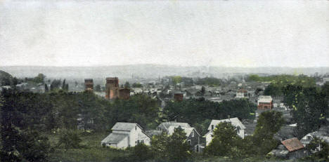 Bird's Eye View of St. Charles Minnesota, 1907