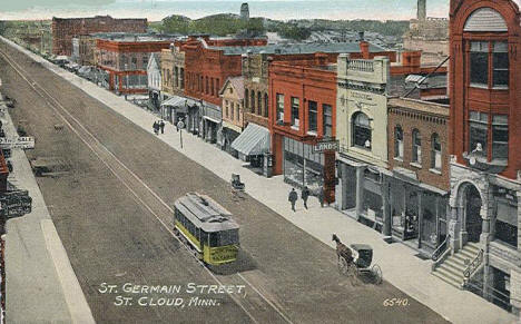 St. Germain Street, St. Cloud Minnesota, 1915