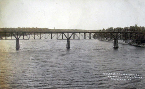 Great Northern Bridge over the Mississippi River, St. Cloud Minnesota, 1915
