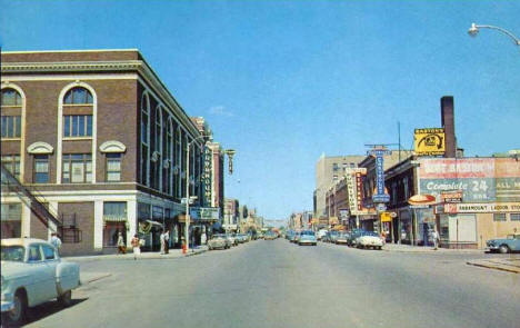 Looking east on St. Germain Street, St. Cloud Minnesota, 1950's