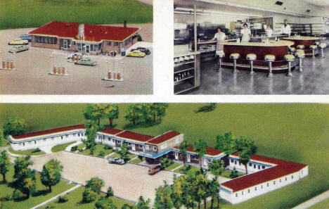 Kay's Motel, Service Station and Diner, St. Cloud Minnesota, 1940's