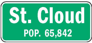 St. Cloud Minnesota population sign