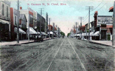 St. Germain Street, St. Cloud Minnesota, Minnesota, 1909