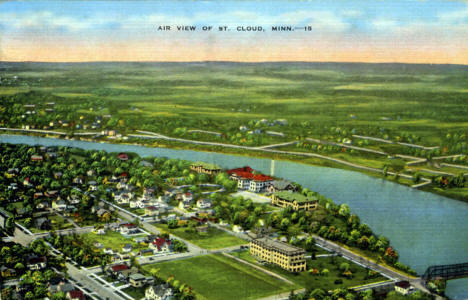 Air view of St. Cloud Minnesota, 1937