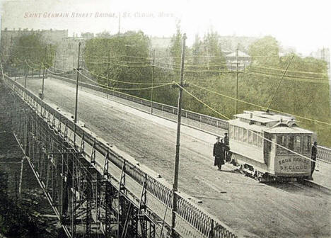 St. Germain Street Bridge, St. Cloud Minnesota, 1900's