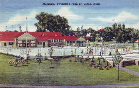 Municipal Swimming Pool, St. Cloud Minnesota, 1948
