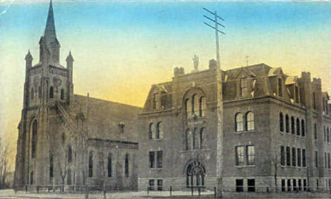 Immaculate Conception Church & St. Mary's School, St. Cloud Minnesota, 1910's?