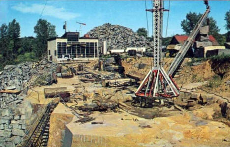 Granite quarry, St. Cloud Minnesota, 1960's
