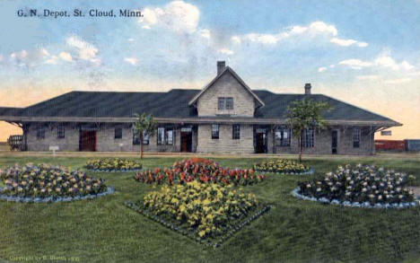 Great Northern Depot, St. Cloud Minnesota, 1910