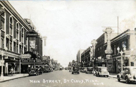 Main Street, St. Cloud Minnesota, 1936