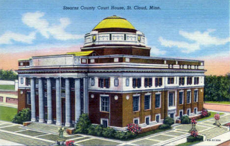 Stearns County Courthouse, St. Cloud Minnesota, 1946