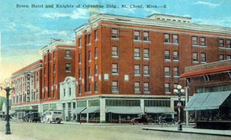 Breen Hotel and Knights of Columbus Building, St. Cloud Minnesota, 1929
