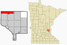 Location of St. Francis, Minnesota