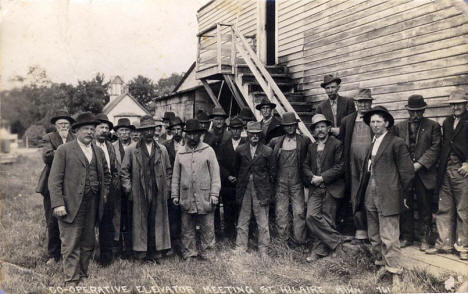 Co-operative Elevator Meeting, St. Hilaire Minnesota, 1908
