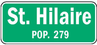 St. Hilaire Minnesota population sign
